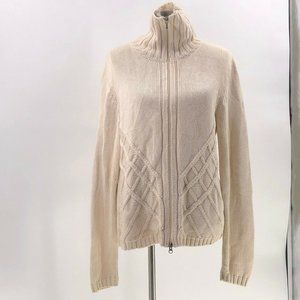 Royal robbins womens full zip sweater sz XL cream